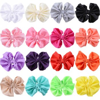 MingRibbon Wholesale Ready Stock 11 cm wide chiffon fabric bow tie/pre made bow tie for DIY 16 colors available