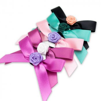 MingRibbon custom made perfume ribbon bows, ribbon bow with elastic band loop for bottle decorations