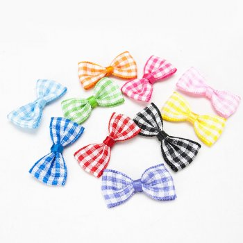 MingRibbon custom made mini gingham bow, plaid bow for candy decorations