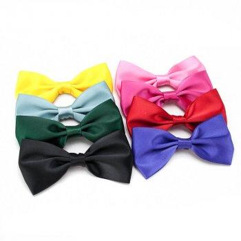 MingRibbon custom made 3″ satin bow, pre made satin ribbon bow tie 196 color available