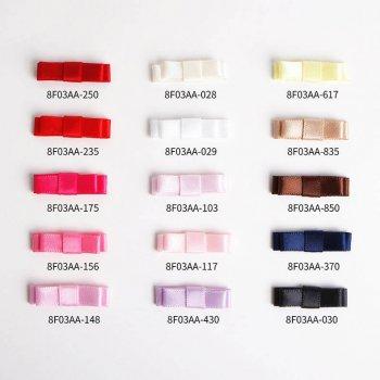 MingRibbon 16 colors available mini satin bow, flat ribbon bow