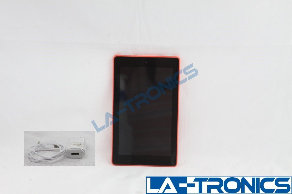 """Amazon Kindle Fire 7 7"""" 8GB 7th Generation Tablet eReader Punch Red SRO43KL"""