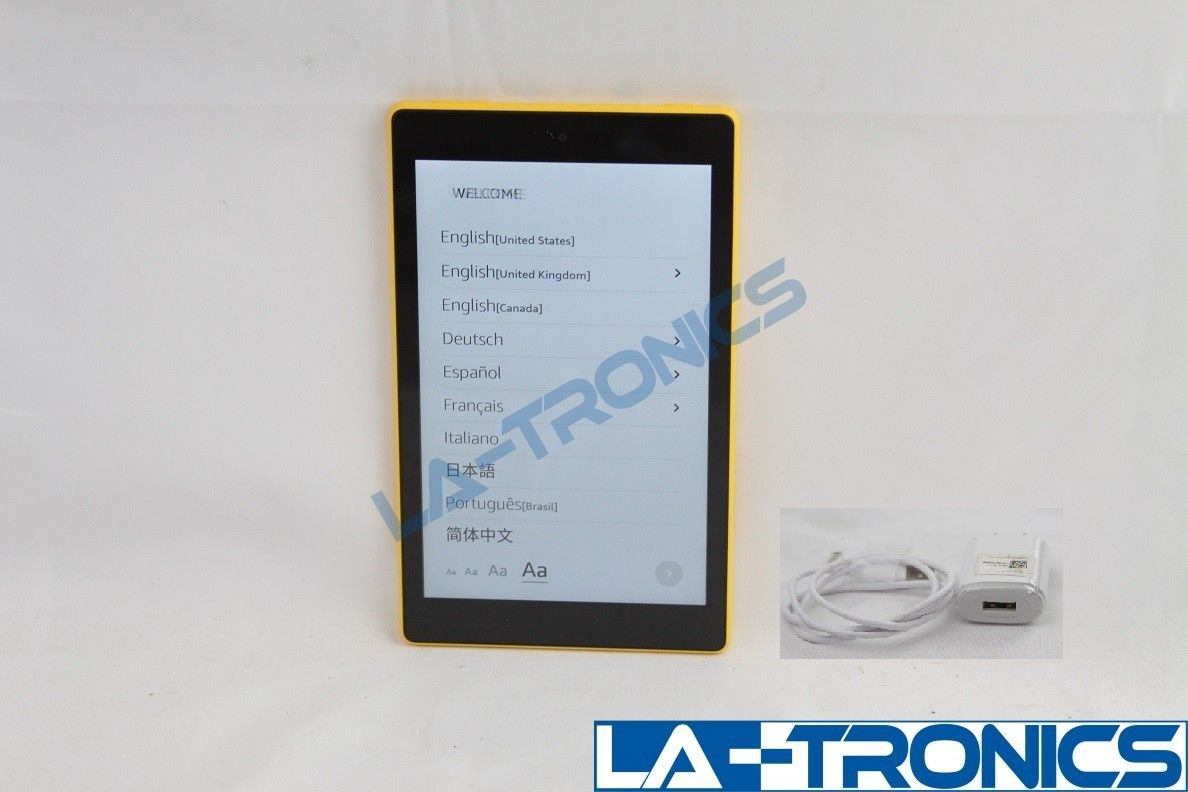 """Amazon Fire HD 8 8th Generation  8"""" 16GB Yellow Model L5S83A Tablet"""
