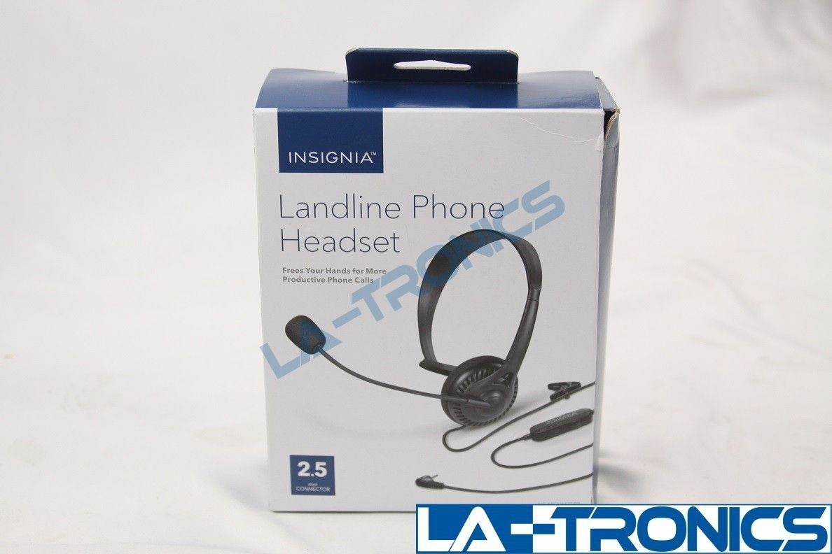 Insignia Landline Phone Headset  HANDS FREE 2.5 Connector NS-MCHM25PB escape