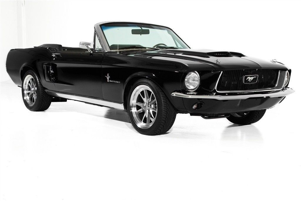 Triple Black 1967 Ford Mustang Convertible