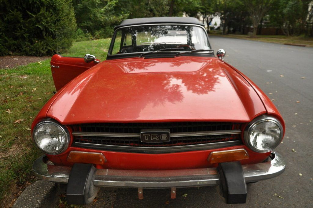 well serviced 1974 Triumph TR 6 convertible