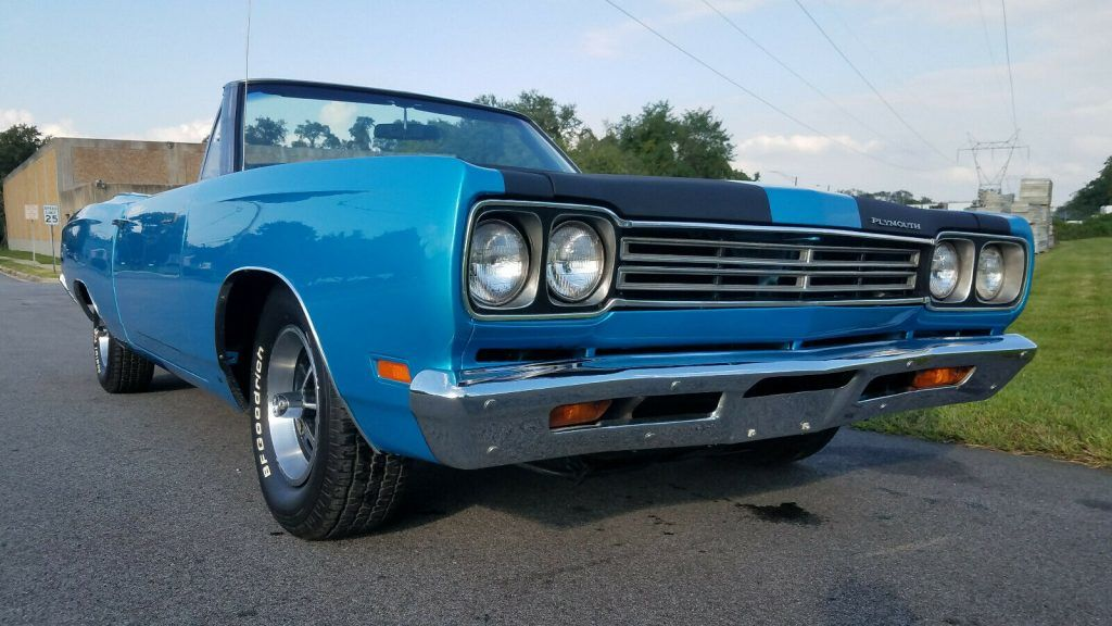 restored 1969 Plymouth Road Runner Convertible