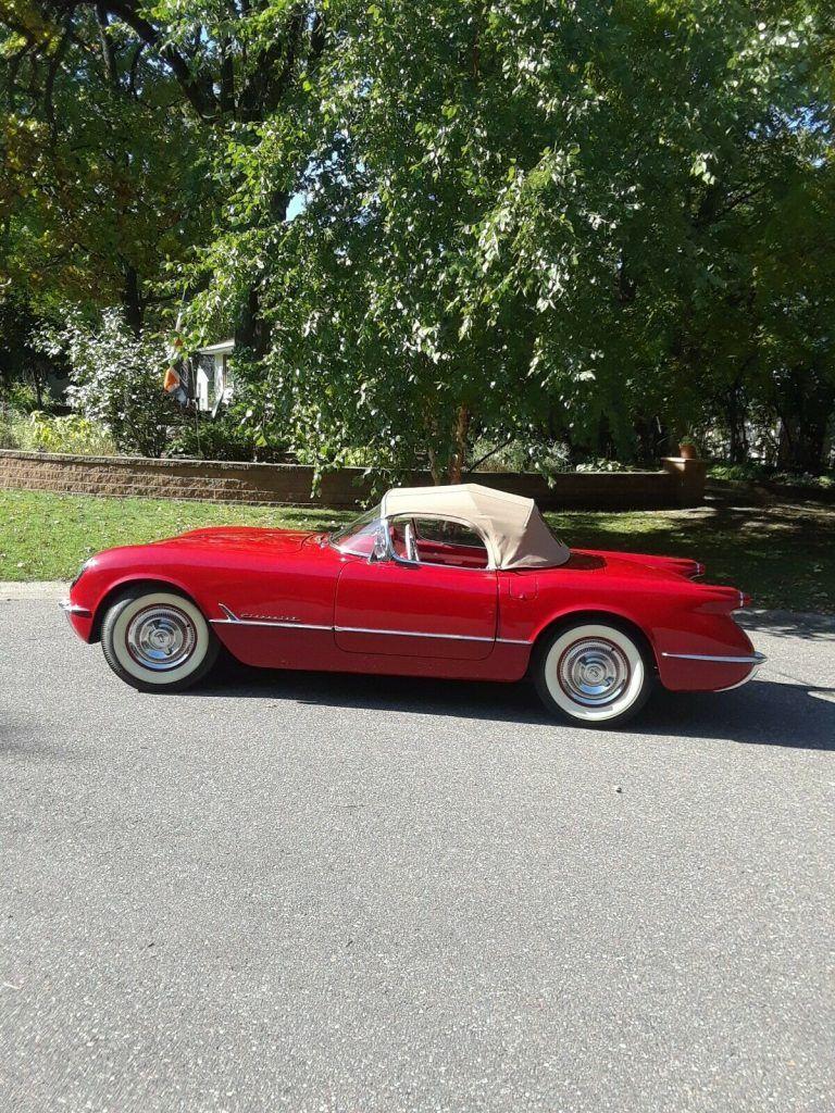 restored 1954 Chevrolet Corvette Convertible