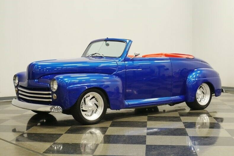 cool custom 1948 Ford roadster convertible