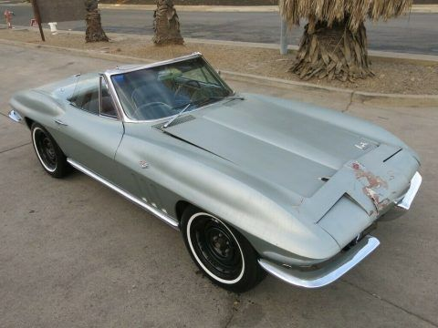 repairable 1966 Chevrolet Corvette Sting Ray Limited Edition 300hp Convertible for sale