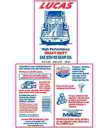 Heavy Duty SAE 80W-90 Gear Oil