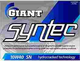 GIANT SYNTEC 10W-40 SN