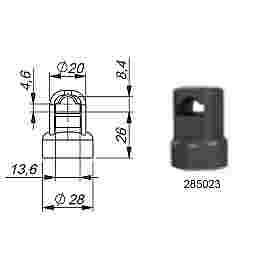 ROD GUIDE AND ADAPTOR - PLASTIC - 8mm ROD GUIDE