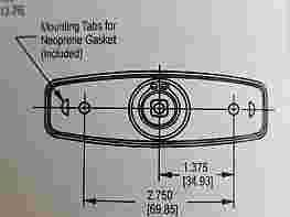 FLUSH MOUNTED POP-UP T-HANDLE - GASKET ONLY
