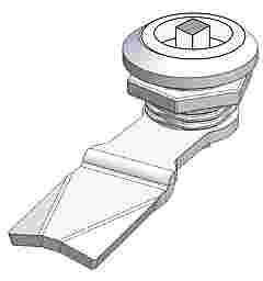 QUARTER TURN LOCK -3mm DOUBLE BIT