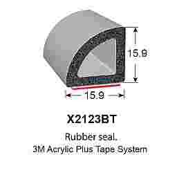 SPONGE RUBBER SEALS - 15.9x15.9mm (MADE BY 3M)