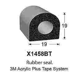 SPONGE RUBBER SEALS - 19x19mm (MADE BY 3M)
