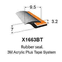 FENDER FLARE TRIM  - 9.5x7x3.2mm - (MADE BY 3M)