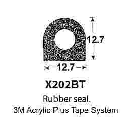 SPONGE RUBBER SEALS - 12.7x12.7mm (MADE BY 3M)
