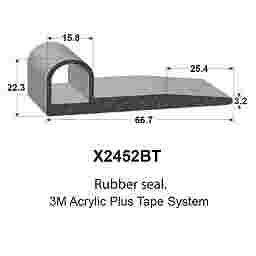 SPONGE RUBBER SEALS - 66.7x22.3x15.8mm (MADE BY 3M)