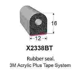 SPONGE RUBBER SEALS - 12x16mm (MADE BY 3M)