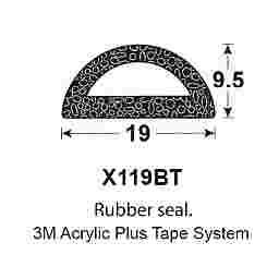 SPONGE RUBBER SEALS - 19x9.5mm (MADE BY 3M)