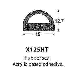 SPONGE RUBBER SEALS - 19x14mm