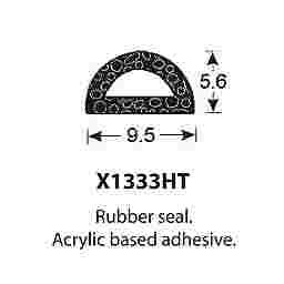SPONGE RUBBER SEALS - 9.5x5.5mm