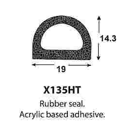SPONGE RUBBER SEALS - 19x14.5mm