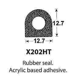 SPONGE RUBBER SEALS - 12.7x12.7mm