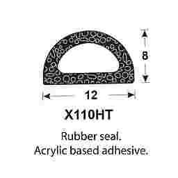 SPONGE RUBBER SEALS - 11.9x7.9mm