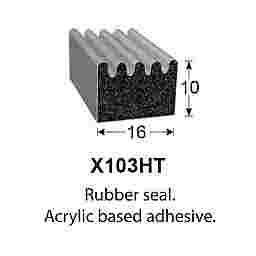 SPONGE RUBBER SEALS - 16x10mm