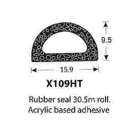 SPONGE RUBBER SEALS - 15.8x9.5mm