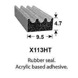 SPONGE RUBBER SEALS - 9.5x4.7mm
