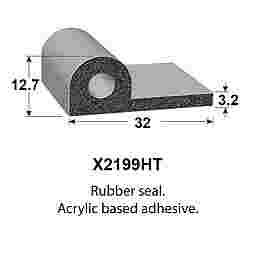 SPONGE RUBBER SEALS - 32x12.7mm