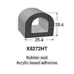 SPONGE RUBBER SEALS - 25.4x25.4mm