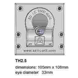 TIGER HOOK LOAD ANCHOR - 2.5 TONNE - 33mm EYE