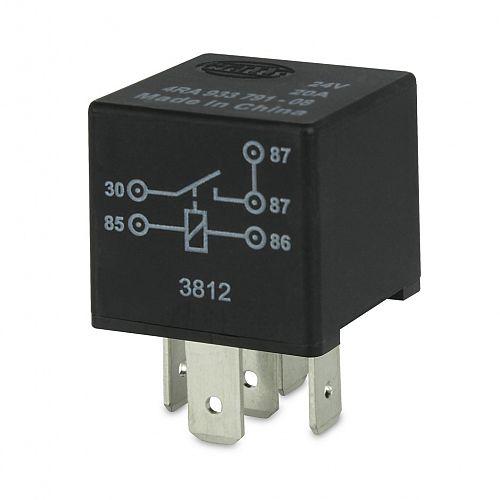 24V 5 Pin Normally Open Mini Relay - 20A