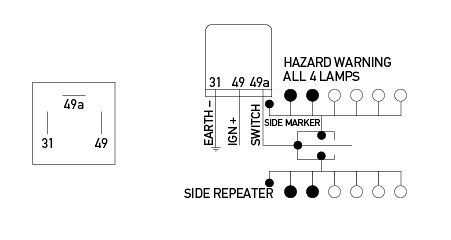 hella flasher wiring diagram electronic flasher unit 12v 3 pin  electronic flasher unit 12v 3 pin