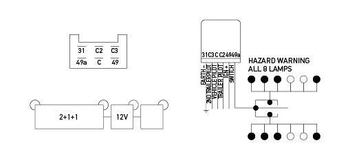 hella flasher wiring diagram electronic flasher unit 12v 6 pin 2 1 1  electronic flasher unit 12v 6 pin 2 1 1
