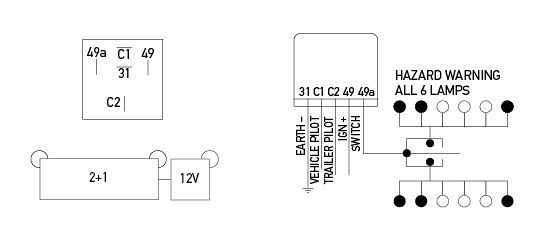 hella flasher wiring diagram electronic flasher unit 12v 5 pin 2 1  electronic flasher unit 12v 5 pin 2 1