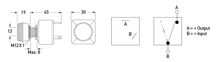 Rotary Switch Off-On - Round Knob
