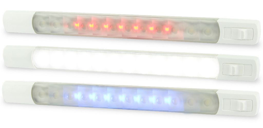 Led Interior Exterior Strip Lamp Dual Colour With Switch Surface Mount