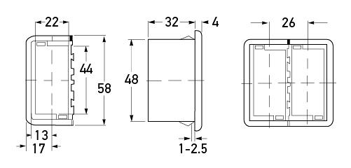 P/N 8HG 716 734-001 - All dimensions in mm.