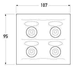 P/N 2690 - All dimensions in mm.