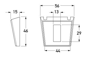P/N 4431 all dimensions in mm.