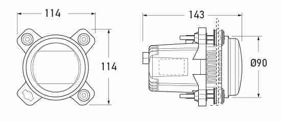 P/N 1ML 012-488-011 All dimensions in mm.