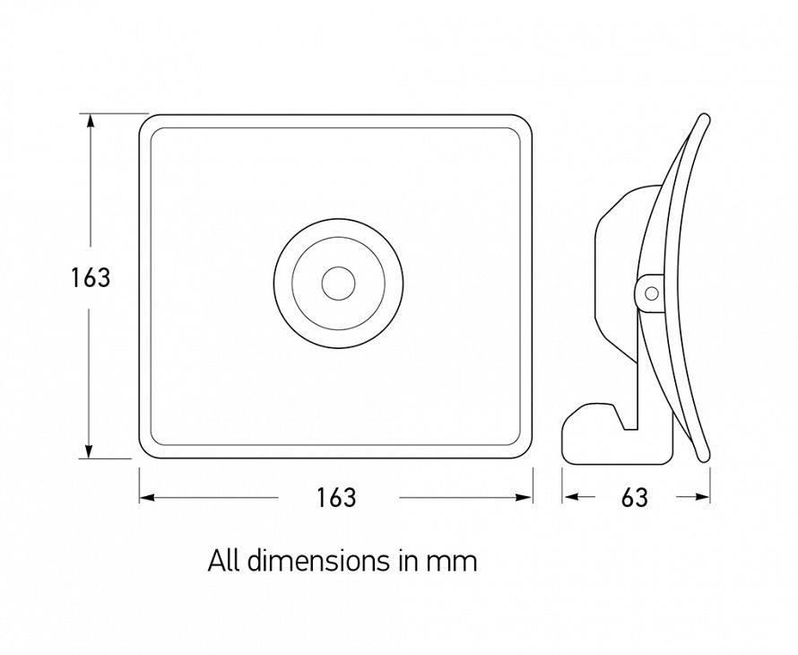 Nova R Compact Inspection Lamp - Dimensions
