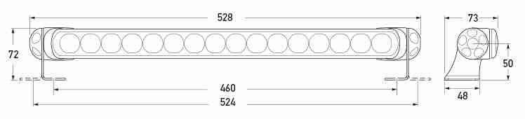 BL470 Red Warning Lamp Dimensions Diagram