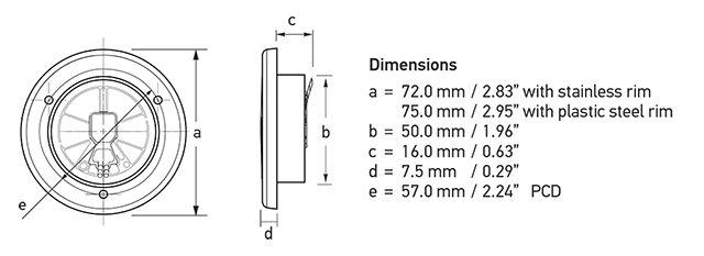 Screw mount lamp dimensions.